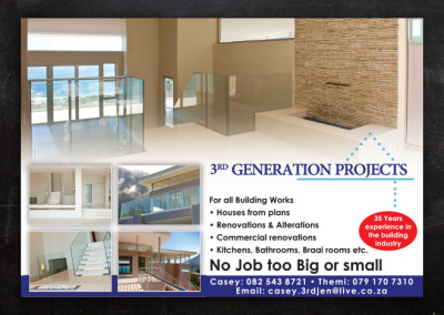 3rd Gen Projects | Advert Design