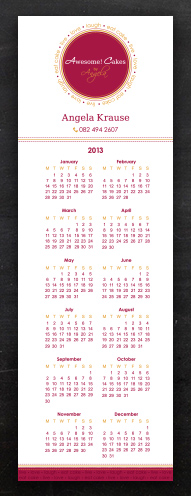 Awesome Cakes | Bookmark Calendar