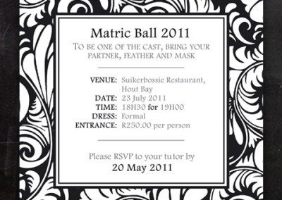 Matric Ball |Invitation