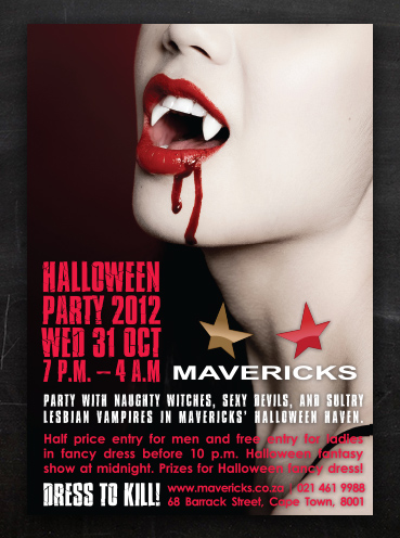 Mavericks Halloween | Flyer Design