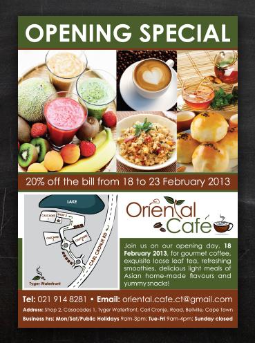 Oriental Café | Flyer Design