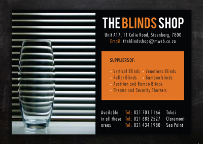 The Blinds Shop | Advert Design