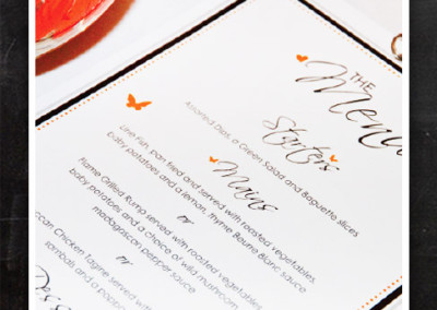 Wedding-menus