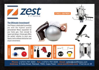 Zest Fitness | Advert Design