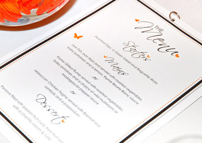 Wedding | Menu