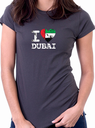 T-shirt Design   I love Dubai