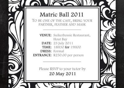 Matric Ball |Invitation