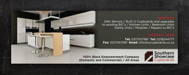 Southern Showcase Cupboards | Advert Design
